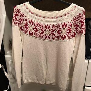 Ann Taylor Loft Christmas holiday pattern sweater